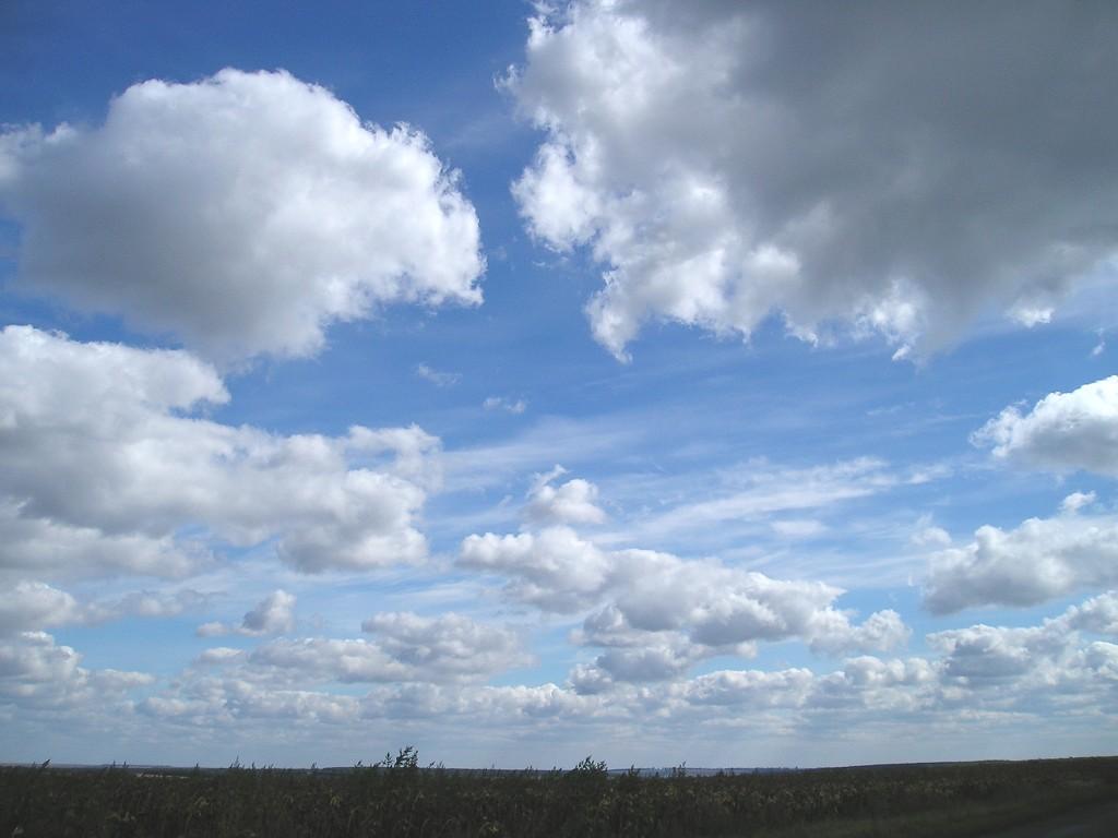 Фото неба с облаками высокого
